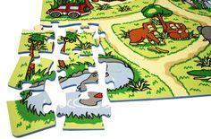 Zoo Play Mat - Educational Kids Puzzle Matting