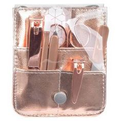 Rose Gold All Hands On Deck Mini Manicure Kit : Target