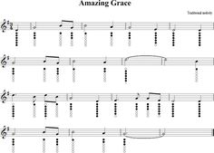 Amazing Grace Sheet Music for Tin Whistle