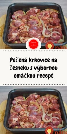 Slovak Recipes, Czech Recipes, Meat Recipes, Cooking Recipes, Healthy Recipes, Delicious Dinner Recipes, Sausage, Good Food, Pork