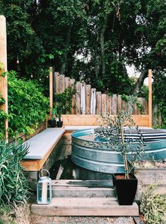 Are you looking for DIY stock tank pool ideas? If you are, you probably have the plan to occupy your backyard by giving it a. Stock Pools, Stock Tank Pool, Above Ground Pool, In Ground Pools, Round Stock Tank, Fresco, Piscine Diy, Pool Diy, Adirondack Furniture