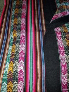 Tribal Blanket Colorful Andes $30.00