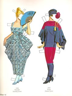 Great Fashion Designs of La Belle Époque  Paper Dolls by Tom Tierney - Dover Publications, Inc.,1982: Plate 16 (of 16)