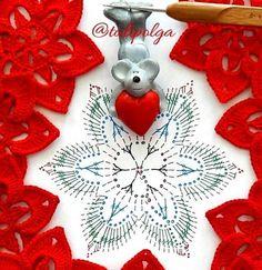 Crochet Snowflake Pattern, Crochet Doily Diagram, Crochet Snowflakes, Christmas Snowflakes, Crochet Chart, Crochet Squares, Crochet Motif, Christmas Angels, Crochet Designs