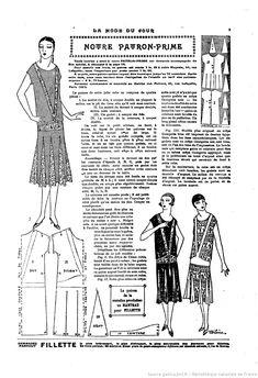 La Mode du jour. 1925/11/12