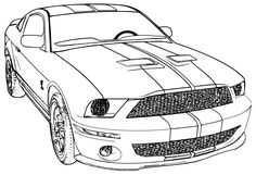 printable mustang car | car coloring page , ford mustang