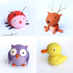 Animalets de plastilina. Bernadette Cuxart. www.viurenunconte.com Tweety, Pikachu, Fictional Characters, Art, Play Dough, Art Background, Kunst, Gcse Art, Art Education Resources