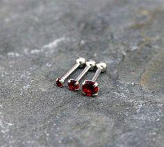 Red Garnet Crystal Triple Helix Cartilage by Purityjewel on Etsy Double Forward Helix, Triple Forward Helix Piercing, Triple Helix, Tragus, Helix Cartilage Earrings, Helix Ear, Helix Piercing Jewelry, Red Garnet, Couple