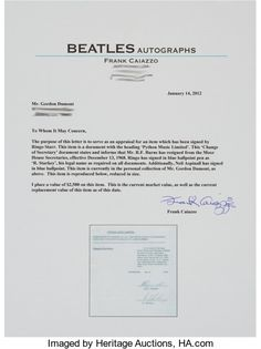 Music Memorabilia:Documents, Beatles - Ringo Starr and Neil Aspinall Signed Business Document,1968....