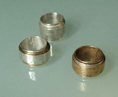 Anelli bronzo argento /designer Simone Bath/ Yuriko gioielli Milano