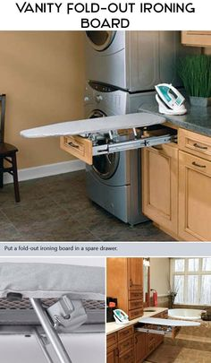 It's not cheap, but it's a great space-saver for those that still have to iron...