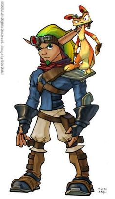 Jak and Daxter from Jak II. Great old game trilogy. Wish it would be redone for next gen systems.
