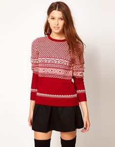 Pretty Vacant Christmas Jumper at from asos