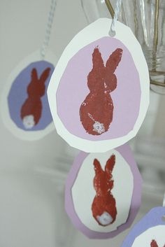Potato print bunnies, could do other shapes to for a more Christian emphasis.