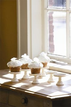Individual Cupcake Stands, from Farmhouse Wares