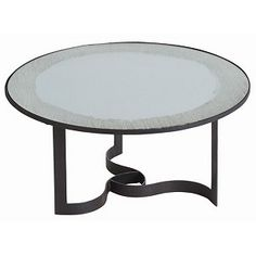 Scillus Chiseled Iron And Mirror Cocktail Table