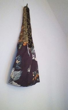 Brown Floral Hobo Bag Shoulder Crossover Bag  by OTTO4CREATIVITY