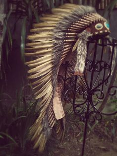 Extra Large Brown Feather Headdress 43 by THEWORLDOFFEATHERS