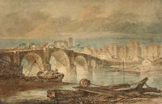 The Athenaeum - Cardiff Bridge and Castle (Joseph Mallord William Turner - )