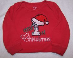 """Baby Boy/Girl Embroidered """"My First Christmas"""" Carter's bodysuit/onsey/onsie/tee/t-shirt. by TerrysSewing on Etsy"""