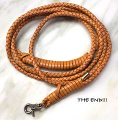 DIY leather dog leash.  Might not be strong enough for the big dog...