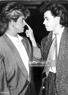 George Michael and Bob Geldof, 1985. Michael's partner Andrew Ridgeley had a nose-job.
