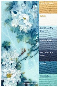 Mood Board. Caron Simple Soft #Yarn #colortheme