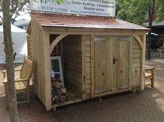 46 Ideas Diy Garden Shed Ideas Log Store For 2019 - Gartenhaus diy Storage Shed Kits, Outdoor Storage Sheds, Bike Storage, Smart Storage, Log Shed, Bike Shed, Shed Design Plans, Diy Shed Plans, Shed With Log Store
