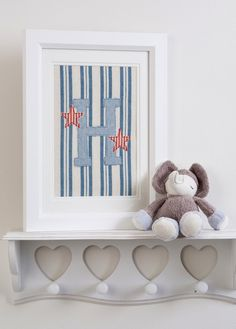Personalised Framed Picture Appliqued Initial with Susie Watson Fabric | eBay