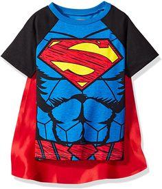 Superman & Batman Toddler Boys' Cape T-Shirt Set: Clothing. Nicest superhero shirts for kids and toddlers. Superman Cape, Superhero Superman, Superman T Shirt, Batman, Superman Stuff, Superhero Dress Up, Superhero Costumes Kids, Superman Costumes, Boys T Shirts