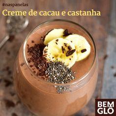 Anote e prepare hoje mesmo esta receita de creme de cacau e castanha vegano. Alimentação saudável é tudo de Bemglô, Experimente! ;)