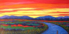 Boulder County Sunset Abstract Huge Contemporary by pattyabaker, $800.00