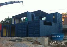 Containerhäuser, Versandbehälter Häuser, Transportbehälter, Krippen,  Kleines Haus, Grundrisse, Brasilien, Haus Pläne, Architektur