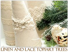 Linen & Lace Topiary Trees featuring Beverly from Flamingo Toes