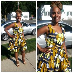 Beautiful African print dress by LiLiCreations on Etsy, $65.00