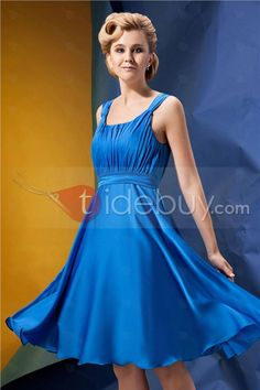 Fashionable A-Line Scoop Neckline Knee-length Alina's Bridesmaid Dress : Tidebuy.com