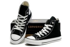 Converse Chuck Taylor All Star High Top Optical Black Canvas Shoes