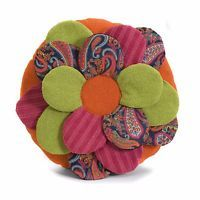 Imax Estelle Multi Fabric Flower Pillow (Pillow), Size Specialty (Cotton, Abstract)