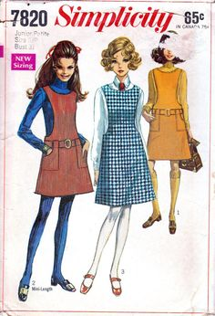 Check out this item in my Etsy shop https://www.etsy.com/listing/492881631/1960s-jumper-pattern-petite-sewing