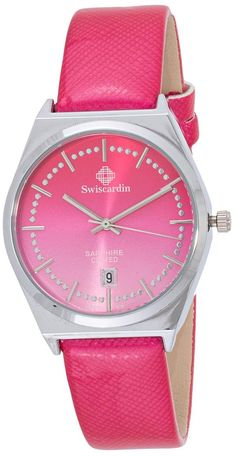 Swiscardin Unisex Pink Dial Leather Band Watch - 11479Mw-G price, review and buy in UAE, Dubai, Abu Dhabi | Souq.com