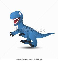 Dinosaur Deinonychus - stock vector