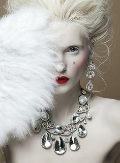 ZsaZsa Bellagio white feathers