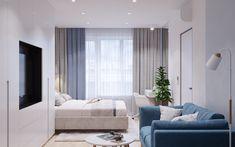 Голубой диван в родительской спальне Lounge, Couch, Bed, Furniture, Home Decor, Chair, Airport Lounge, Homemade Home Decor, Sofa