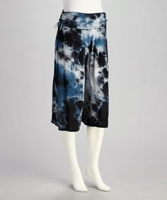 Take a look at this Blue Tie-Dye Gaucho Pants- Women by CottyOn on #zulily today! $24.99, regular 45.00