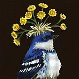 Feathered Fascinator Series -artwork by Vicki Sawyer canvas by Melissa Shirley stitch guide by Lisa Kessler