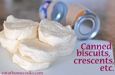 'Big list of recipes (46 to be exact) for canned biscuits, crescents etc..... Ill be glad I pinned this one night!'