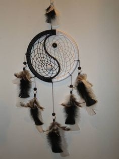 beautiful yin yang dream catcher