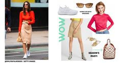 The american model and actress Emily Ratajkowski is so seducive and stylish with her fitted skirt and colourful crop top! Here's our version of her stunning outfit! Emily Ratajkowski Style, Cute Sneakers, Fitted Skirt, Sporty Look, Celebrity Outfits, Street Style Looks, Summer Trends, Style Fashion, Ootd