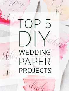 Top 5 DIY Wedding Pa