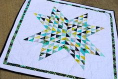 Awesome star quilt.